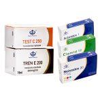 PACK PRISE DE MASSE SÈCHE - Testostéron-Cypionat + Trenbolon-Enanthate (10 Semaines) Maha Pharma