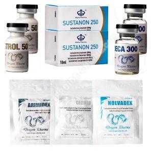 Paquete de ganancia de masa seca (INYECTO-ORAL) SUSTANON + DECA + WINSTROL (8 semanas) Hilma
