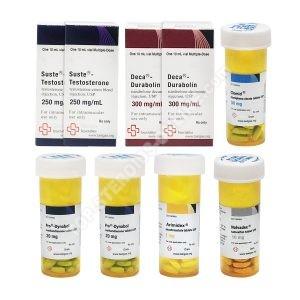 STUFE III (INJEKTIEREN) SUSTANON + DECA + DIANABOL Mass Gain Pack (8 Wochen) Beligas Pharmaceuticals