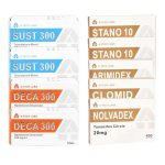 Dry Mass Gain Pack (INJEKT-ORAL) SUSTANON + DECA + WINSTROL (8 Wochen) A-Tech