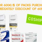 DISCOUNT OF 60€/$ ON ALL PACK