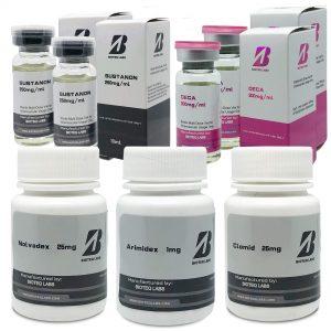Gelişmiş kitle kazanım paketi (8 hafta) - Sustanon + Deca-durabolin + Koruma + PCT - BioTeq Labs
